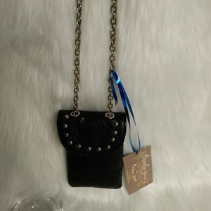 Vegan Leather Studded Crossbody Phone/Card Case